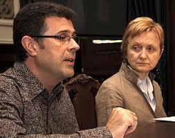 Mª Xosé Bravo - concelleria de cultura e Alberto Conde director artístico del Iberojazz